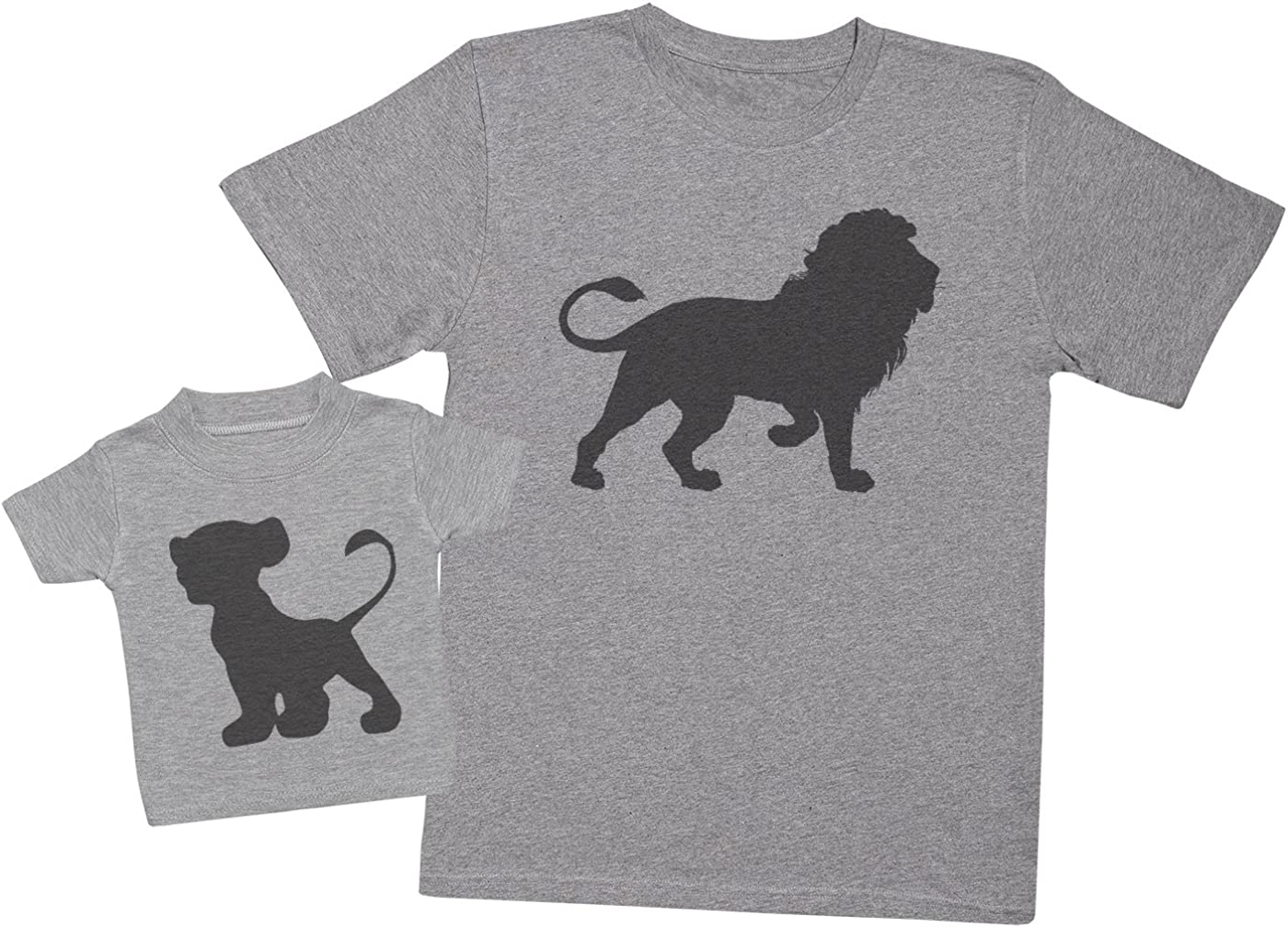TooLoud Cute Baby Lion My First Birthday Infant T-Shirt Dark