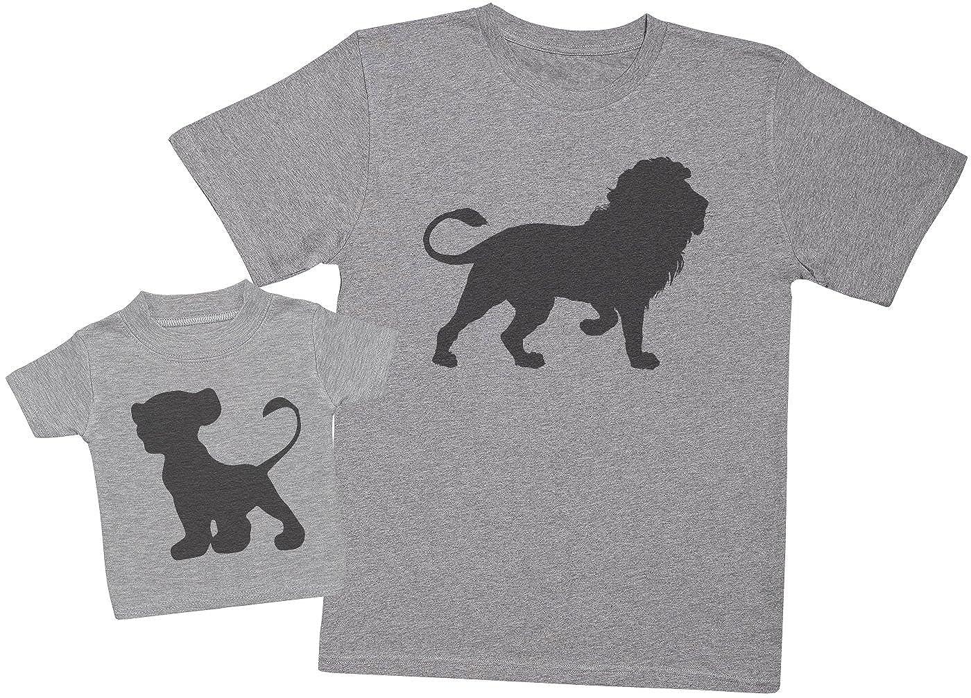 Ensemble P/ère B/éb/é Cadeau Hommes T-Shirt /& T-Shirt b/éb/é Zarlivia Clothing Lion and Cub