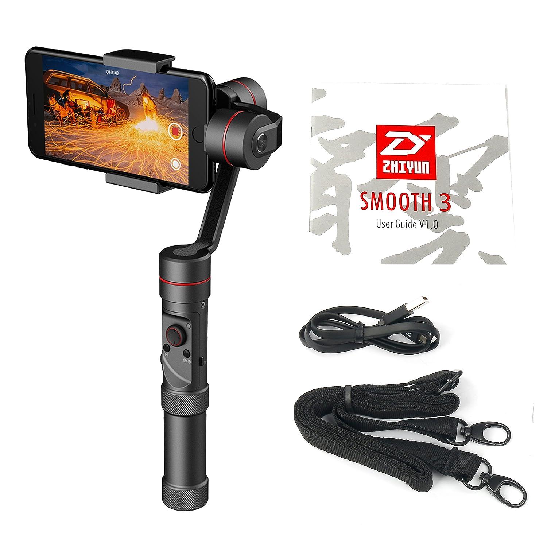 Zhiyun Smooth III 3 Axis Handheld Gimbal Camera Mount for Smartphones like iPhone 7, 6 Plus, 6, 5S, 5C, Samsung S6, S5, S4, S3, Note 4, 3, ect (Updated Smooth-III)