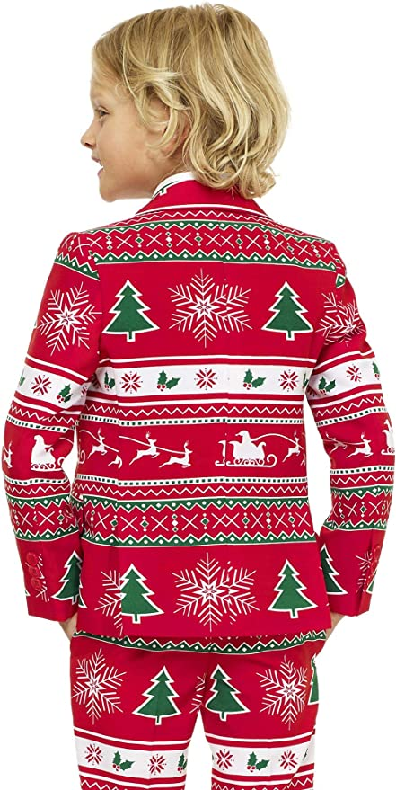 OppoSuits Trajes de Navidad Divertidos - Traje Completo: Chaqueta ...