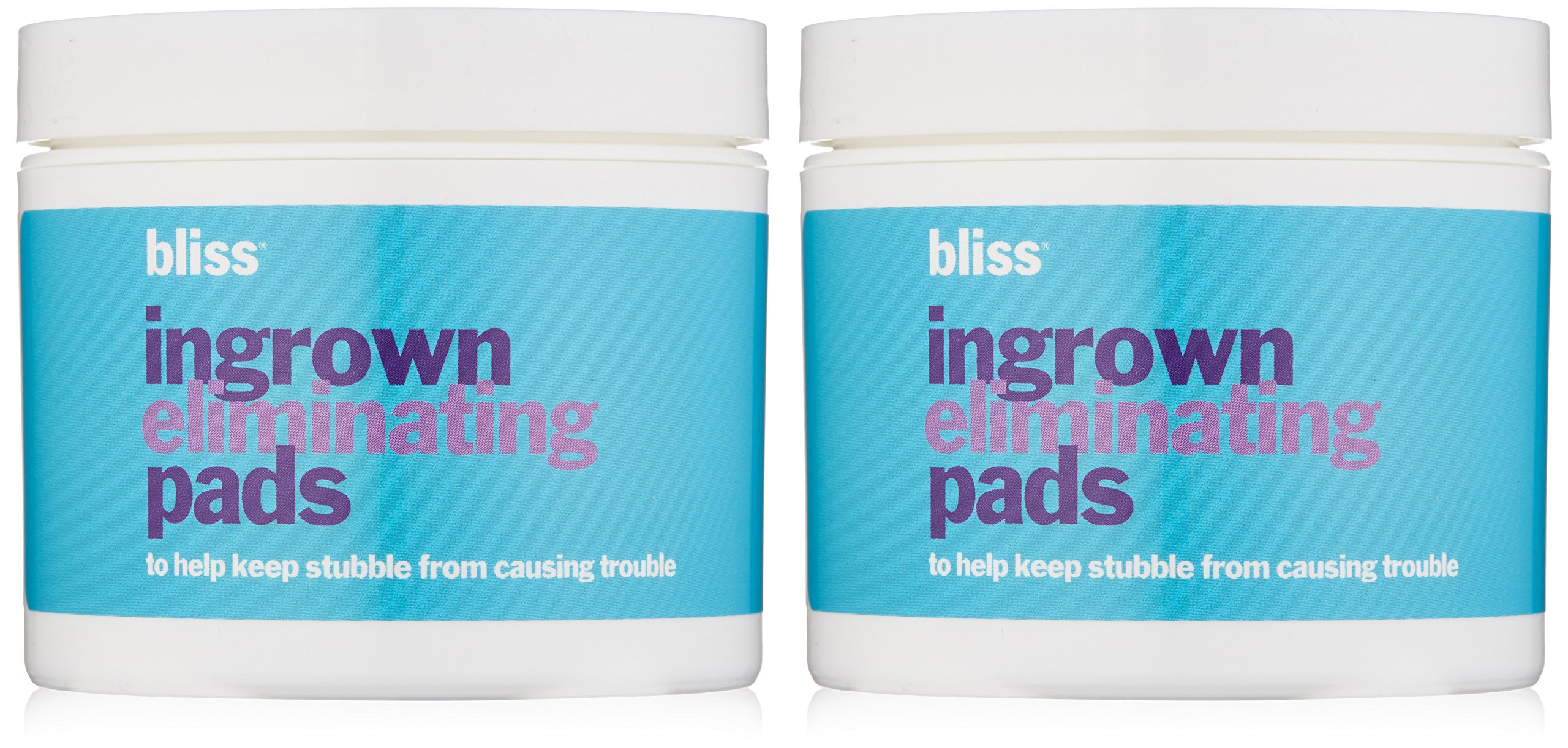 bliss Ingrown Eliminating Pads (Set of 2) | Use Between Waxing/Shaving Sessions | Ingrown Hair Removal Pads | 100 Pads in Total
