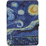 Kindle Paperwhite Custodia - Case Cover Custodia Amazon Nuovo Kindle Paperwhite 1/2/3 Adatto Tutte le versioni: 2012, 2013, 2014 ,2015 Nuovo 300 ppi), Dont Touch My Kindle (Starry Night)