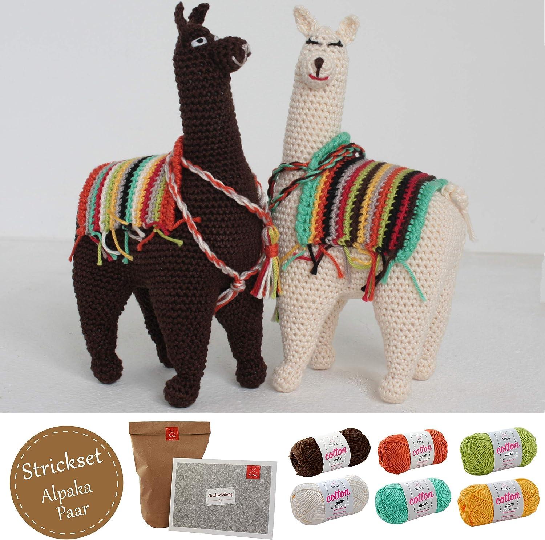myoma Amigurumi Juego * DIY de ganchillo de alpaca par * Juego de ...