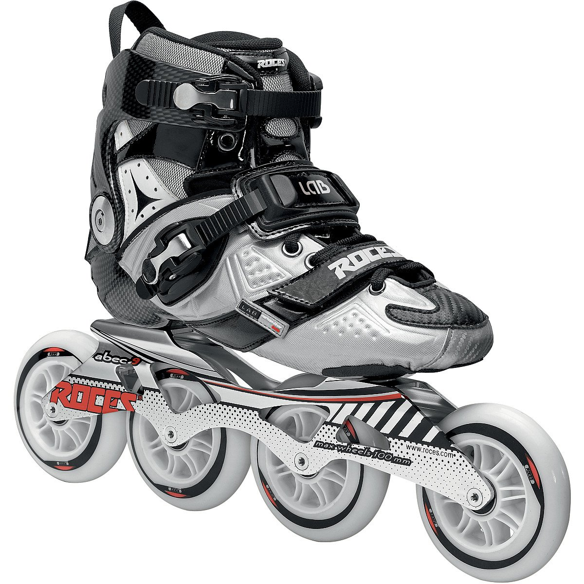 Roces 400721 Men's Model Lab Fitness Inline Skate, US 7, Black/Silver by Roces