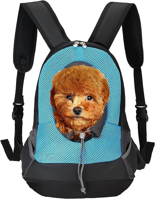 ITERY Pet Carrier, Back Front Pack Perro Gato Mochila de Malla Bolsa de Viaje para Mascotas Head out diseño Acolchada Ajustable Correa para el Hombro: Amazon.es: Oficina y papelería