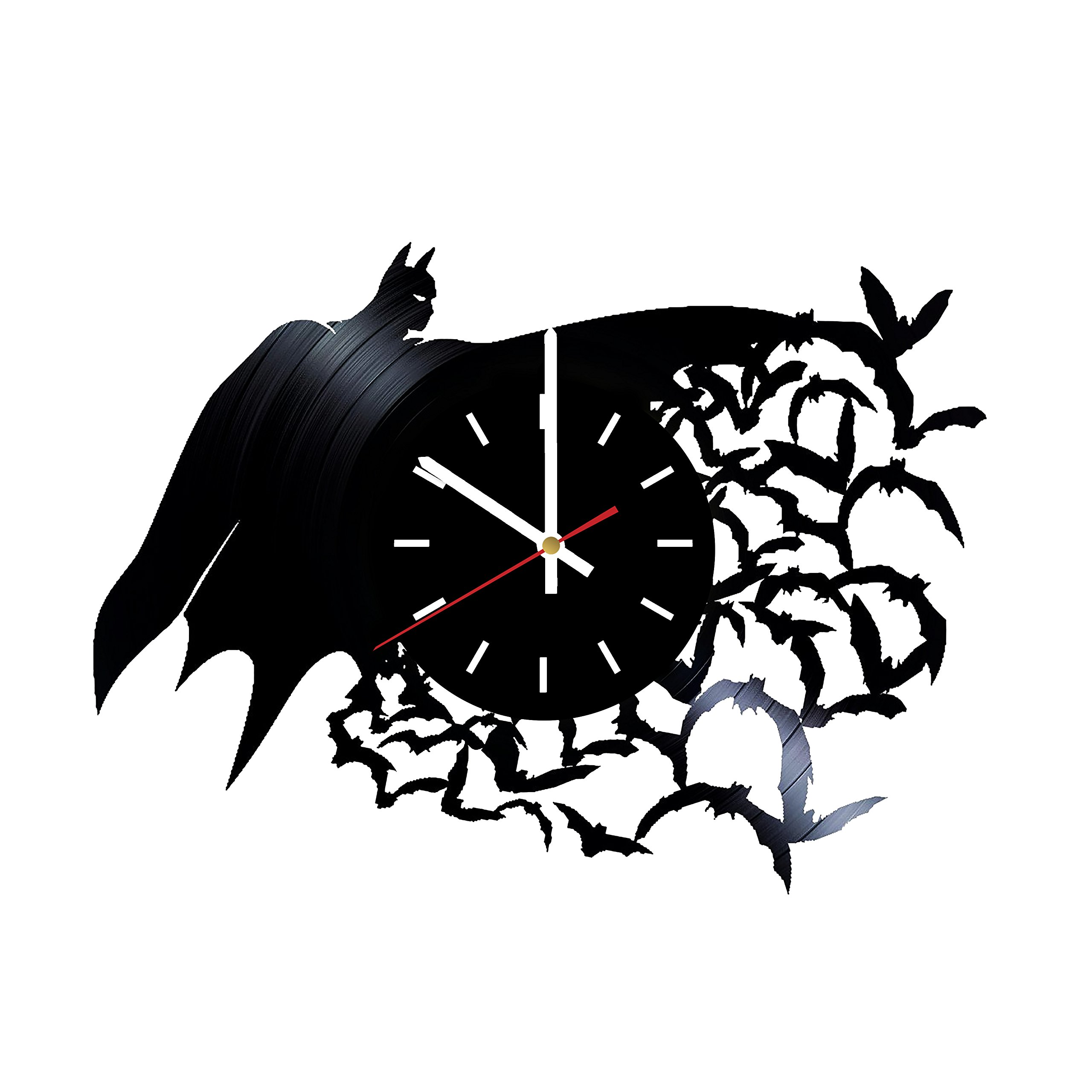 Everyday Arts Superhero Batman Design Vinyl Record Wall Clock - Get Unique Bedroom or Garage Wall Decor - Gift Ideas for Friends, Brother - Darth Vader Unique Modern Art