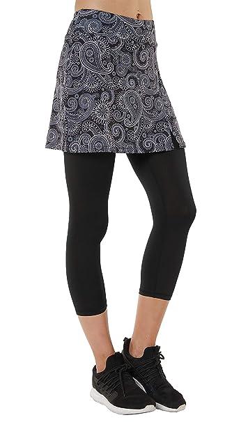 HonourSport Pantalones de Falda de Mujer Corte de Hendidura ...