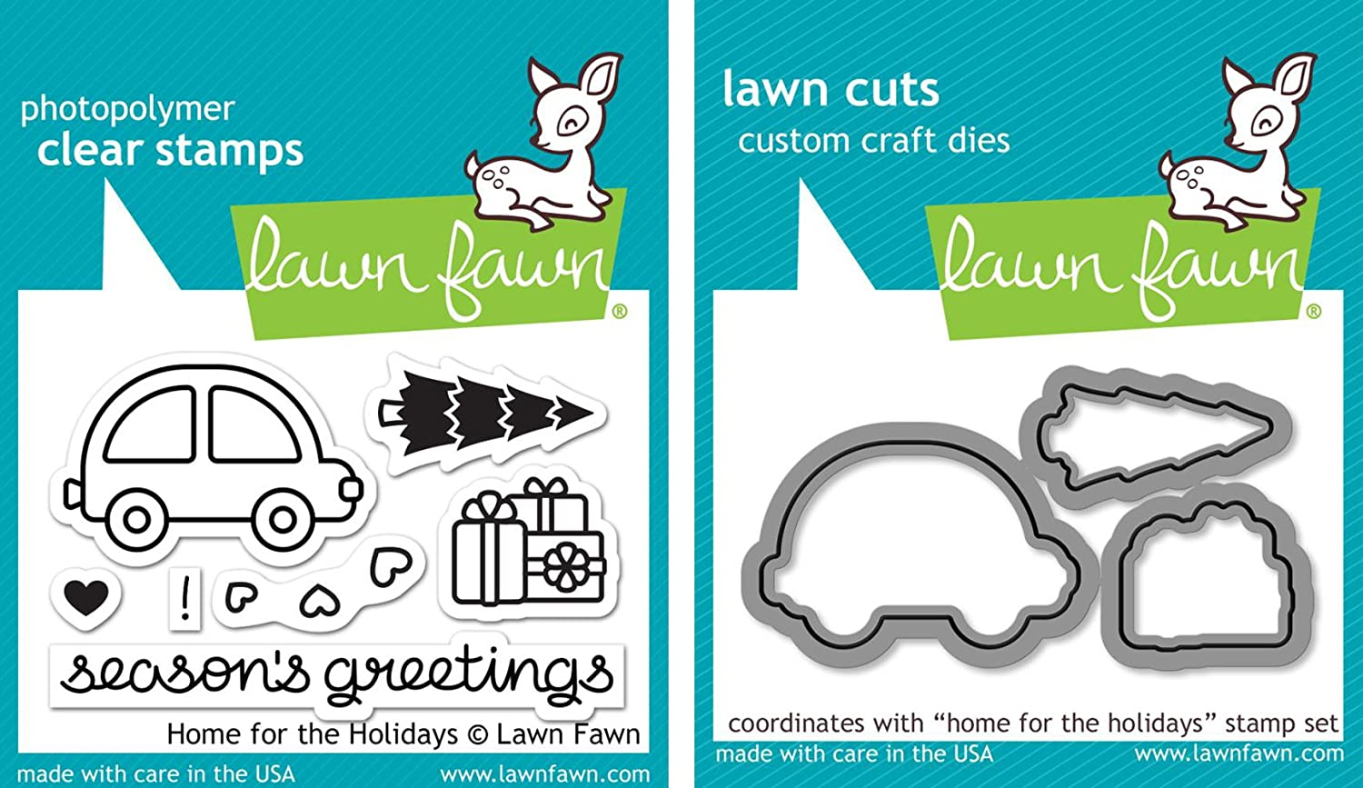 Lawn Fawn Home for the Holidays - Stamps and Dies - Two Item Bundle 4336980751