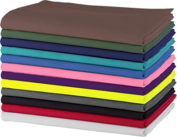 Bleu Serviette de Table en Tissu /échelle 18x 18 M/élange de Lin et Coton 55//45 Z-MIN Serviettes de Table Blanches 12 pi/èces