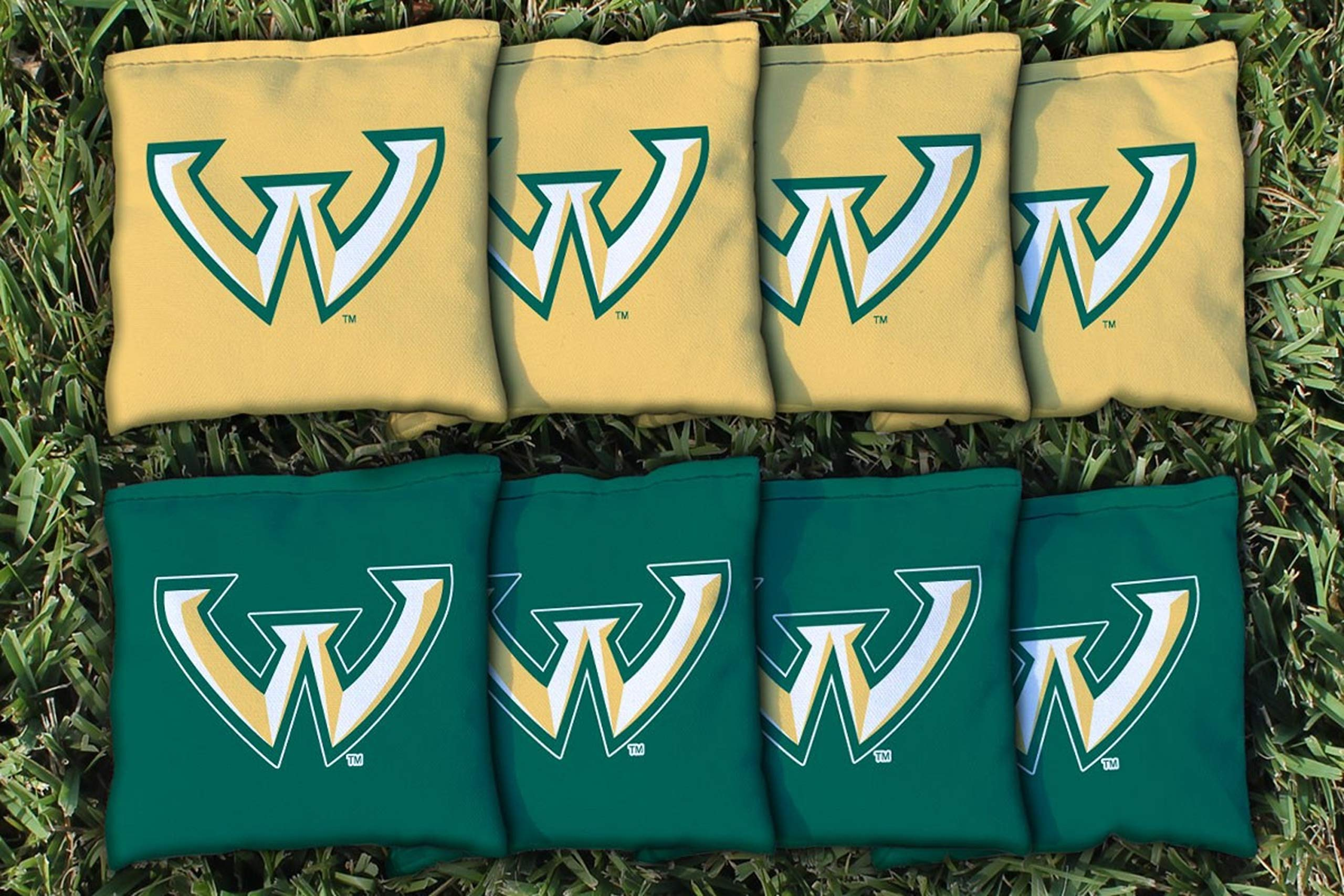Victory Tailgate NCAA Collegiate Regulation Cornhole Game Bag Set (8 Bags Included, Corn-Filled) - Wayne State University Warriors by Victory Tailgate