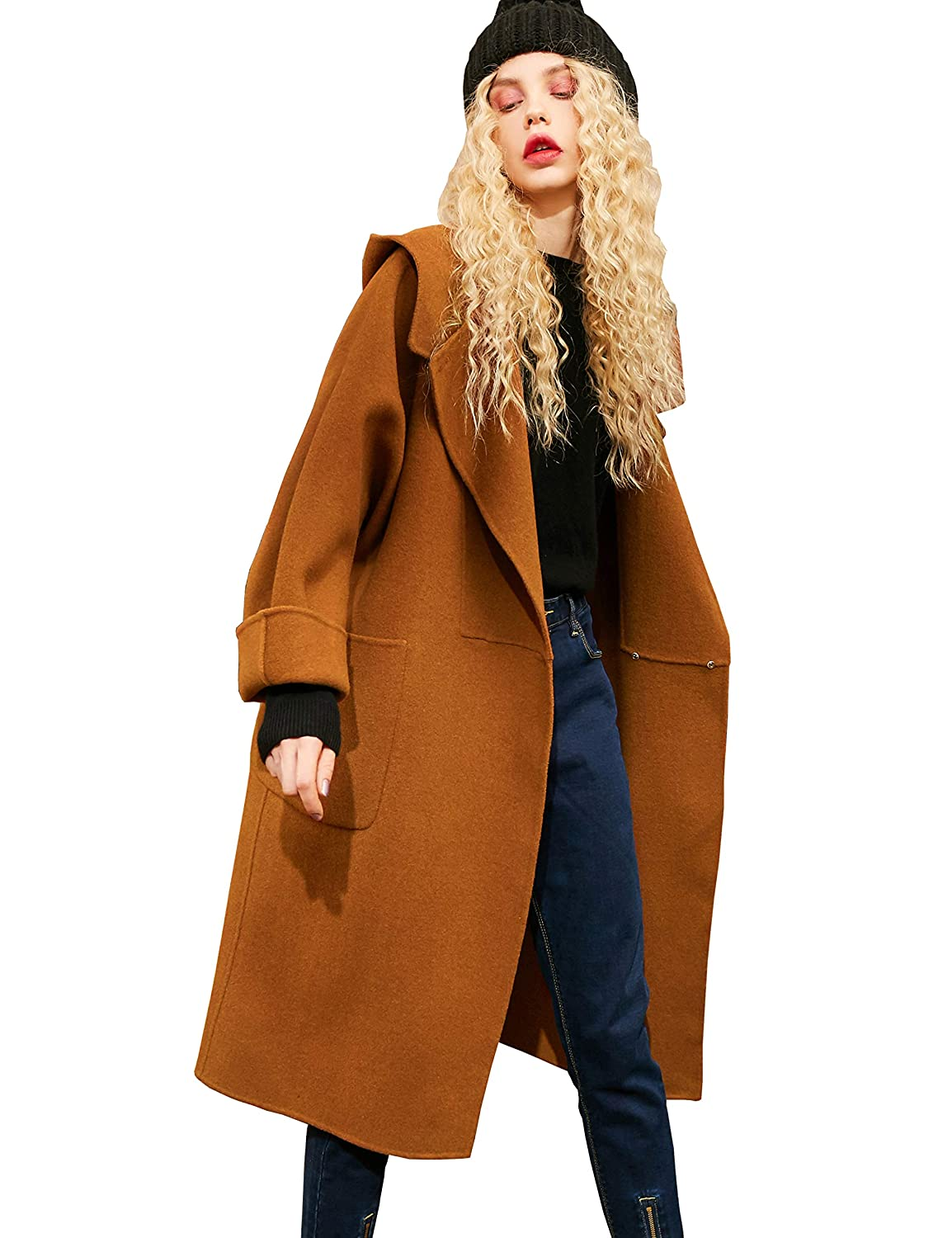 3748b6e220083 Elf Sack Women Double Breasted Trench Coat