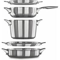 Calphalon 5-Piece Premier Space Saving Stainless Steel Cookware Set