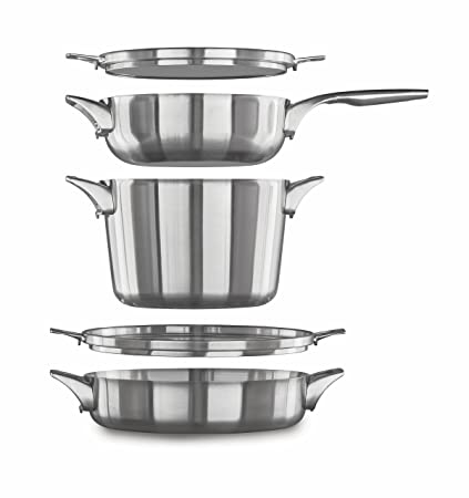 Amazon Com Calphalon Premier Space Saving Stainless Steel Supper
