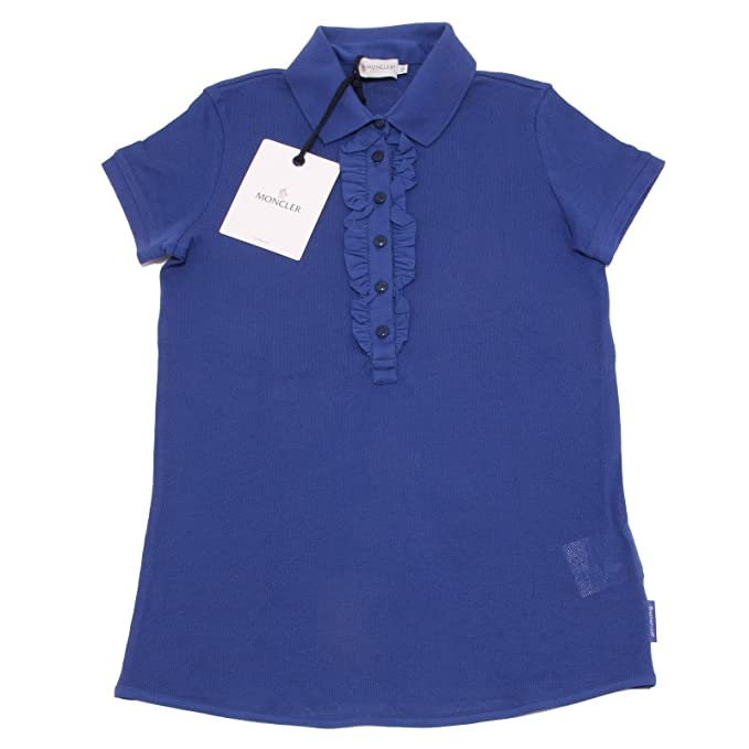 7932O polo donna MONCLER blu manica corta t-shirt sleeveless woman [XS]