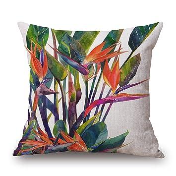 American Rural Flower Lover Bird Decorative Throw Pillowcase Cover 18/'/'x18/'/'