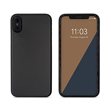 C0V3R Funda iPhone X Ultra-Slim Case Delgado Carcasa - Super Ultra Fino (0.3 mm) y Ligero (3.5 g) en Negro - Proteccion contra aranazos y golpess - ...