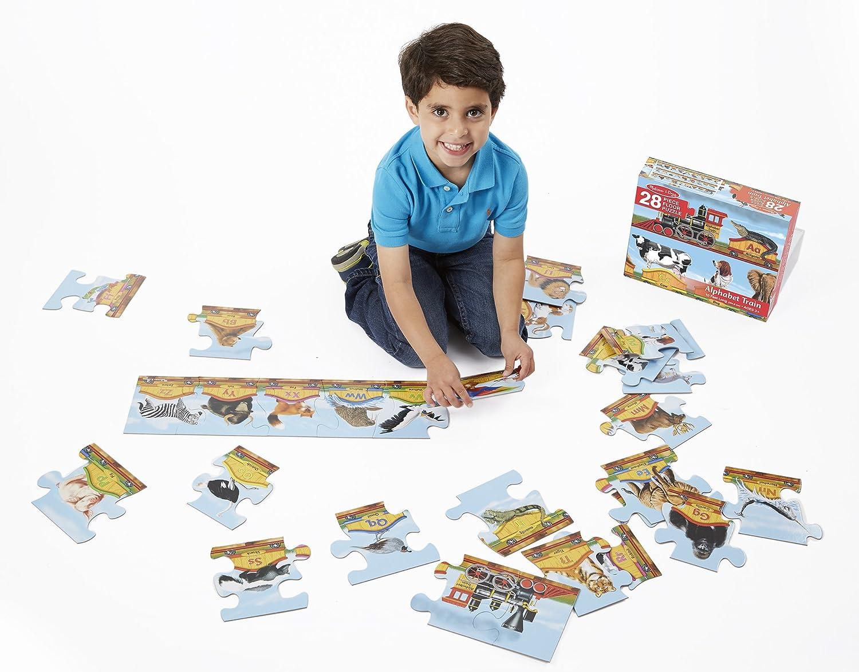 Amazon.com: Melissa U0026 Doug Alphabet Train Jumbo Jigsaw Floor Puzzle    Letters And Animals (28 Pcs, 10 Feet Long): Melissa U0026 Doug, 28pc 424 : Toys  U0026 Games