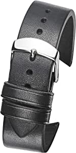 Alpine Hand Made Genuine Vintage Leather Watch Band with Curved Ends - Black, Brown, Tan - 22mm