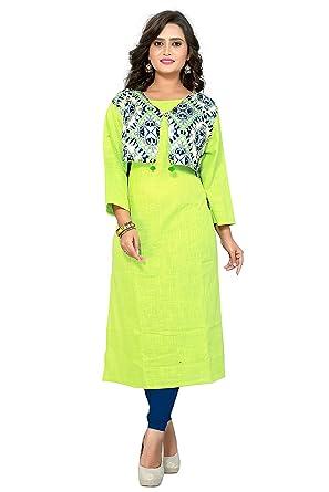 056b71dfa6 Vbuyz Women's Kurta(VB-KU-85-40_Green_40): Amazon.in: Clothing ...