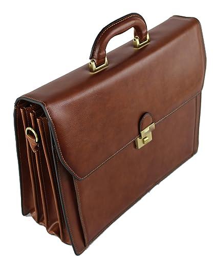 0fbab66103 Frédéric Johns® - Cartable en cuir 4 compartiments - cartable cuir - porte  documents homme