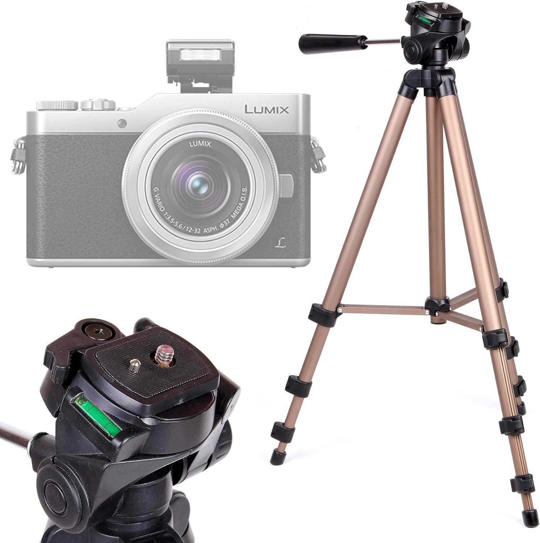 DC-GX850 Pieds Solides DMC-FZ80//HZ82 DURAGADGET Tr/épied//Perche Selfie 2 en 1 Extensible pour Panasonic Lumix DC-GH5 Lumix G DC-GX800//GX850 appareils Photo