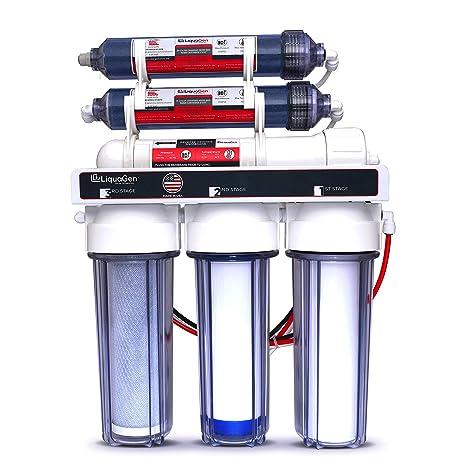 LiquaGen - 6-Stage Reverse Osmosis + Deionization Water Filtration System    0 TDS - 100 GPD