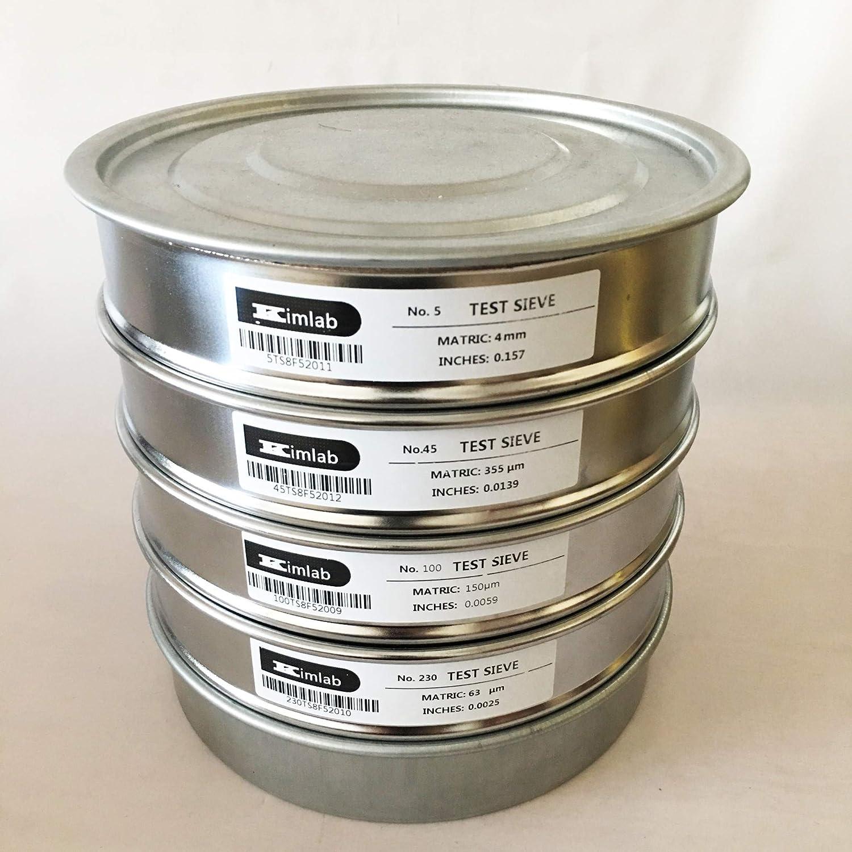 KimLab Economy Test Sieve #60 8 Diameter 250/μm Mesh Size,304 Stainless Steel Wire Cloth