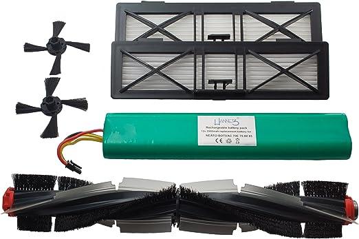 Hannets NBV-1RB-2UF-2SB - Batería de repuesto para robot aspirador ...