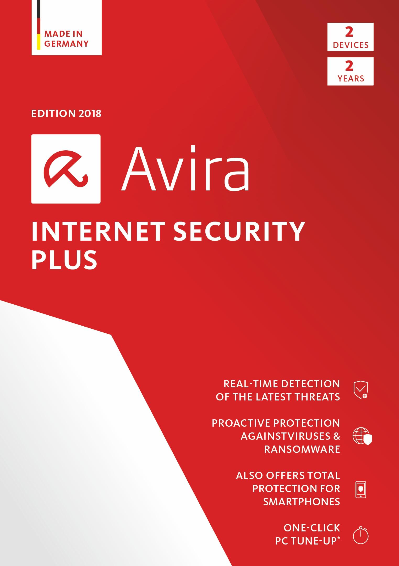 Avira Internet Security Plus 2018 | 2 Device | 2 Year | Download [Online Code] by Avira