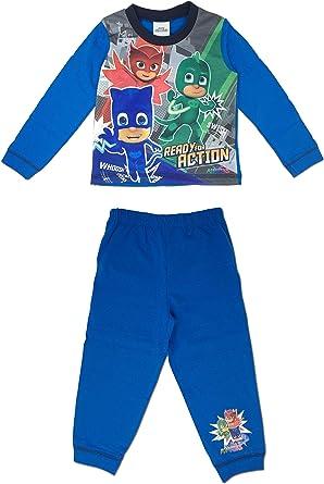PJ Masks pijama de manga larga con dibujos animados para niños