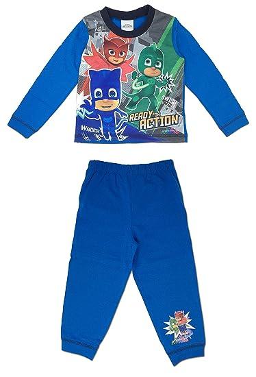 Color Azul PJ Mask W19 Pijama Largo para ni/ño