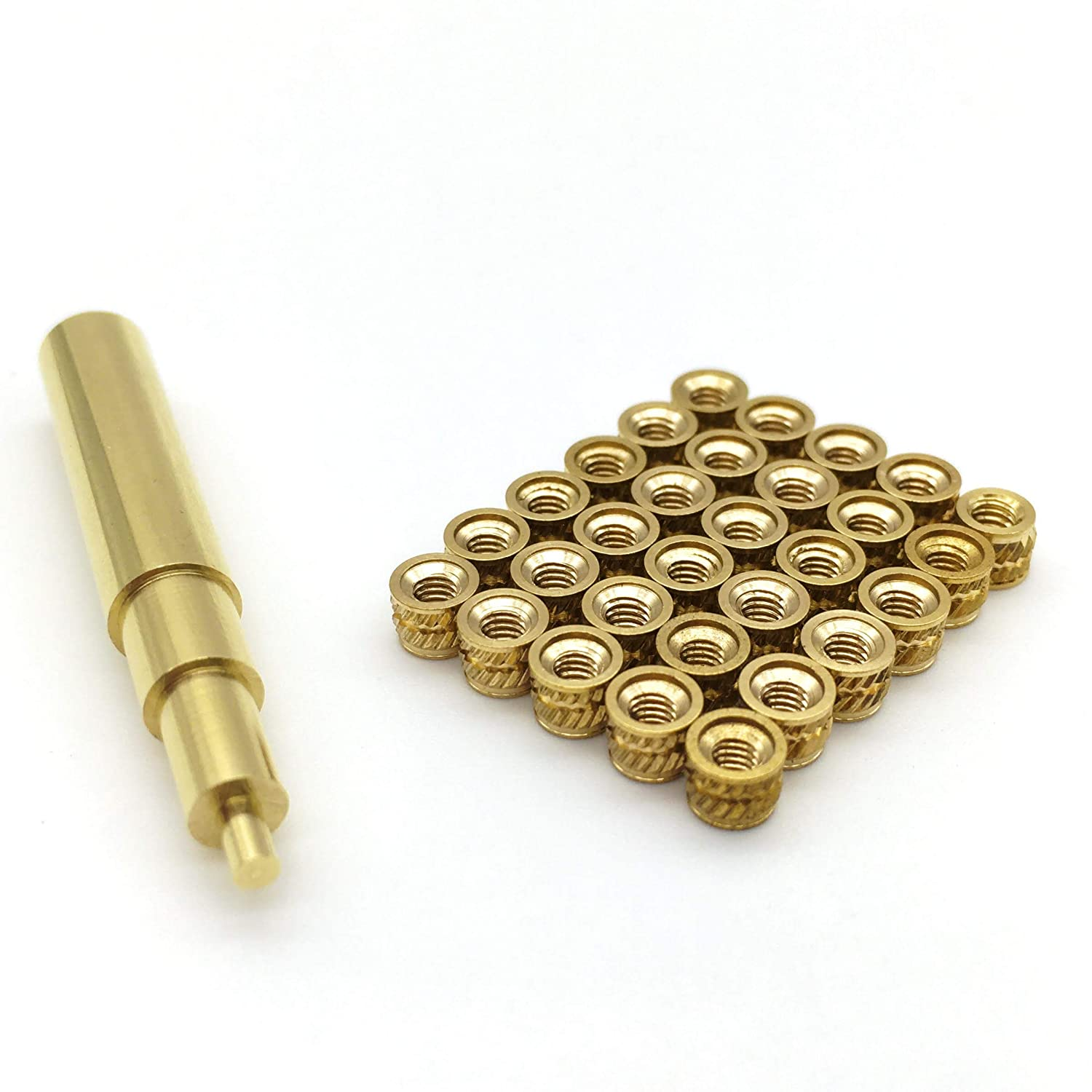 Heat Set Insert Tip for M2.5 with Qty 30 M2.5 Inserts Compatible with Hakko FX-888D and Weller SP40NUS Irons Used for Connecting and Fastening 3D Printed Parts.