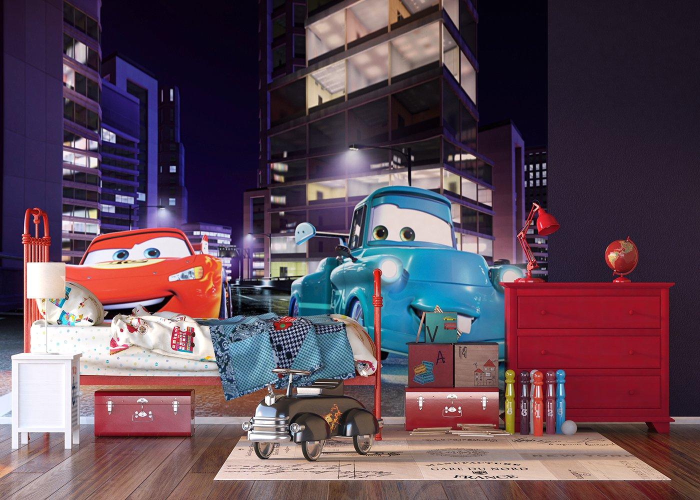 AG Design FTDXXL 0245 Cars Disney, Papier Fototapete Kinderzimmer- 360x255 cm - 4 Teile, Papier, Multicolor, 0,1 x 360 x 255 cm