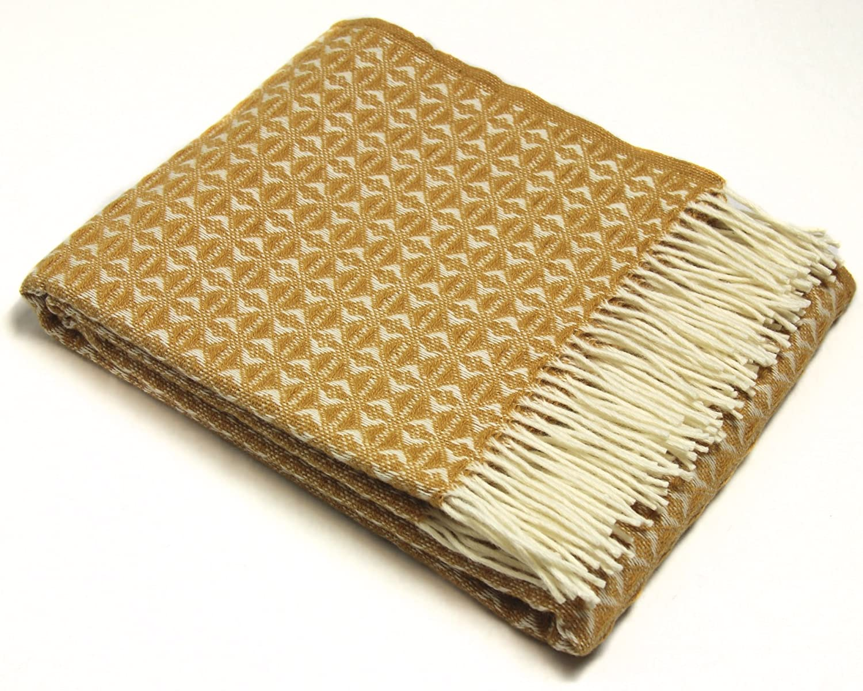 Yellow Throw Blanket Aztec Blanket Aztec Throw Aztec