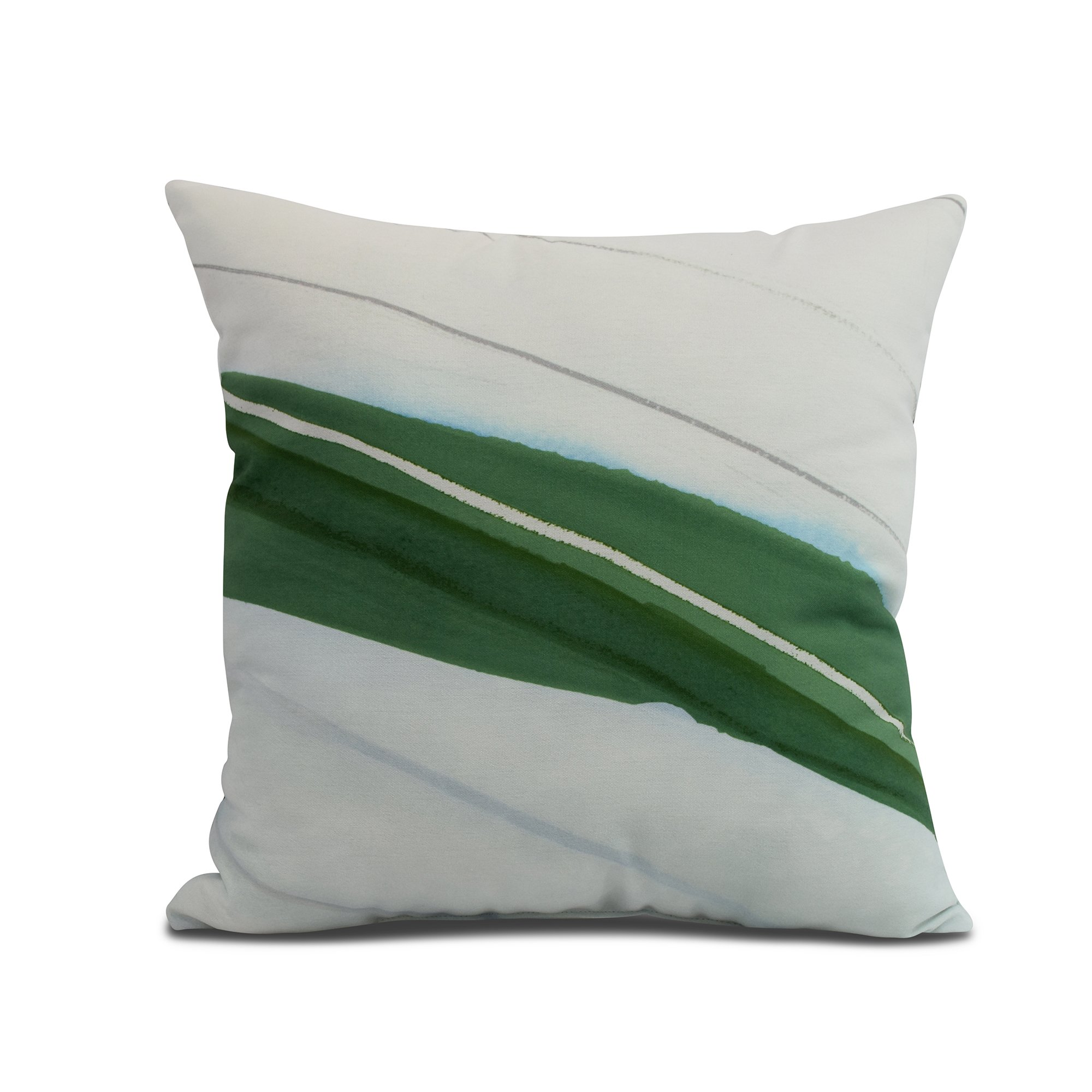 Simply Daisy, 16 x 16inch, Boat Bow Wood, Geometric Print Pillow, Green