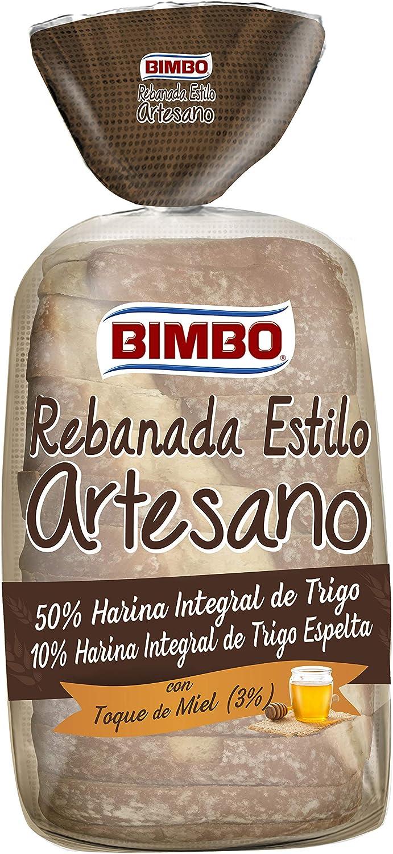 Bimbo Rebanada estilo Artesano, pan integral con corteza, 550g 14 ...