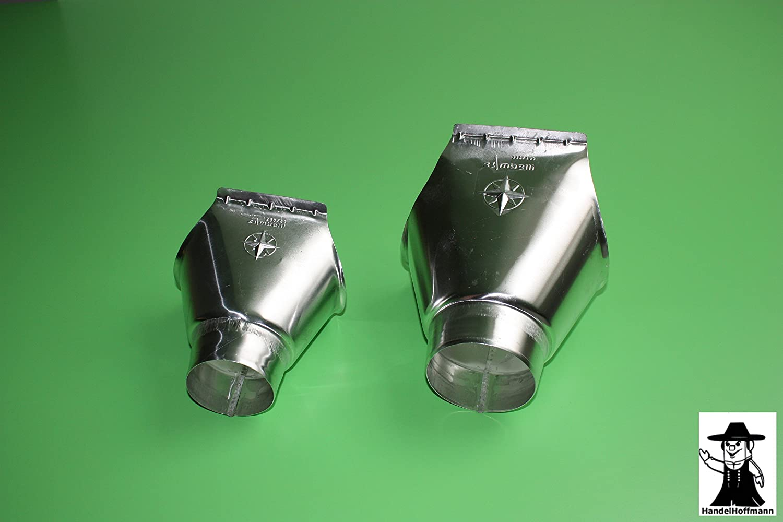 gro/ß - 6 TLG RG 150 NG333 Rinnenverbinder f/ür Dachrinne Titanzink