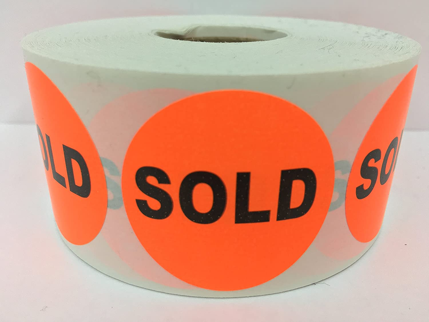 1000 Labels 1.5' Round SOLD Point of Sale Pricing Inventory Control Retail Stickers 1 Roll Labels and More