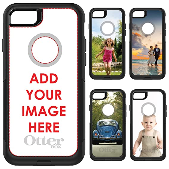 promo code c1b86 749a6 DistinctInk OtterBox Commuter for iPhone 7 / iPhone 8 (NOT Plus) - Custom  Printed Personalized Case With Photo of Your Choice - Design Your Own
