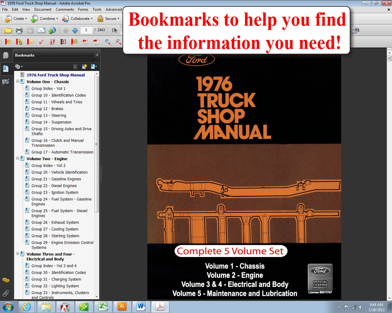 1976 Ford Truck Shop Manual: Ford Motor Company, David E. LeBlanc:  9781603710848: Amazon.com: Books
