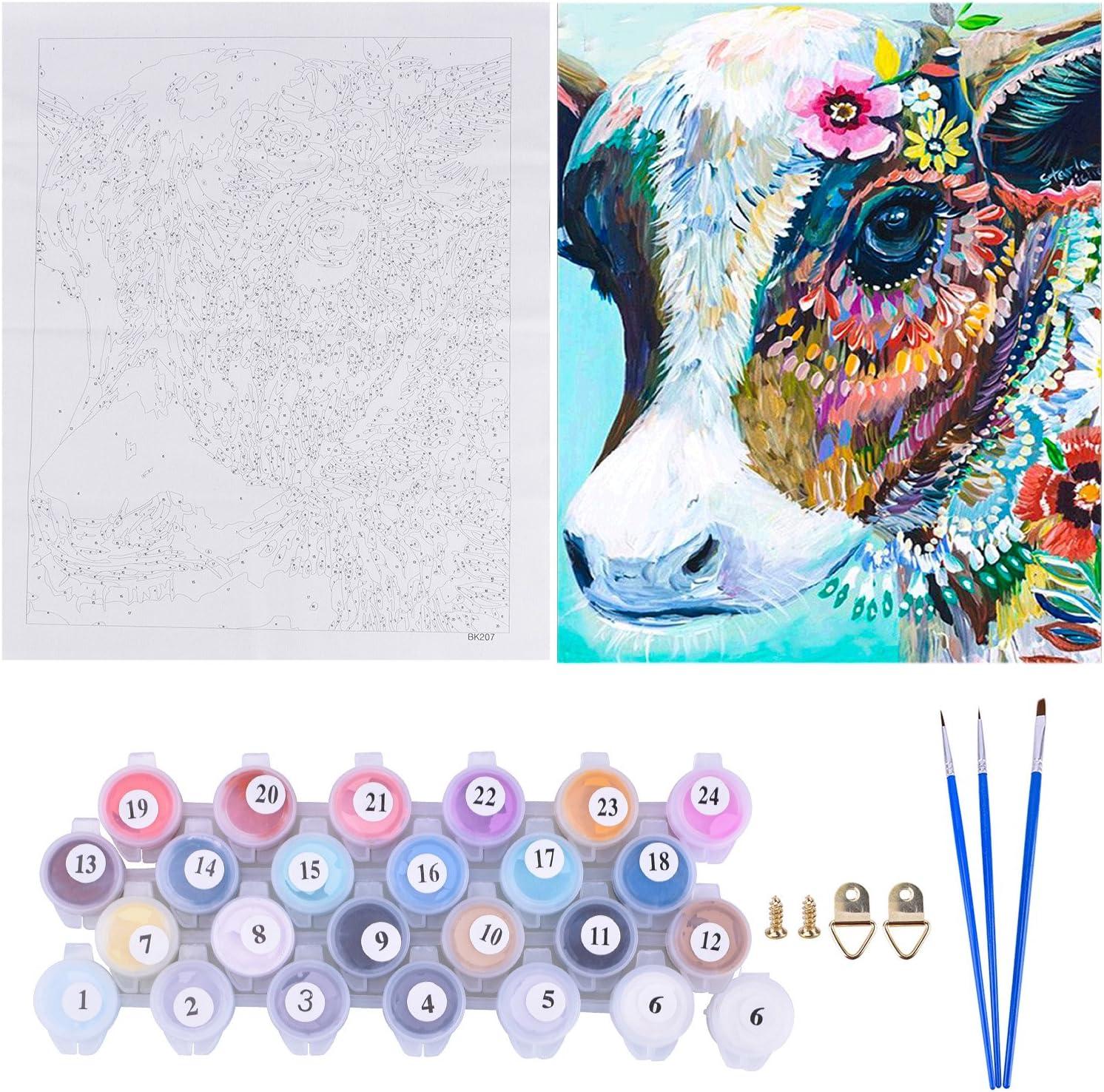 peinture par nombre de kits pour adultes enfants Nuit,08346 LhiverFR DIY Peinture /à lhuile num/érique sans cadre