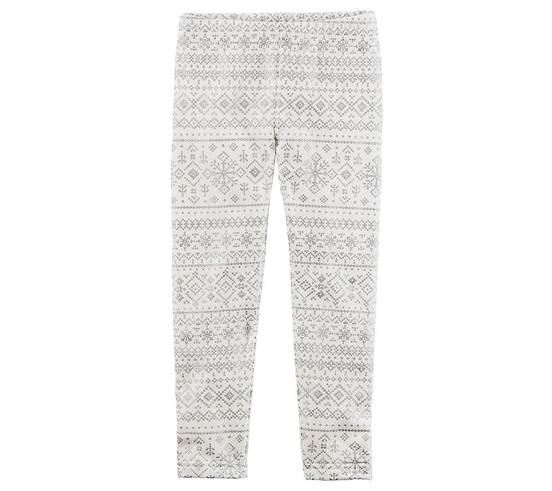 Carters Girls 12M-8 Snowflake Pattern Fleece Leggings 24 Months