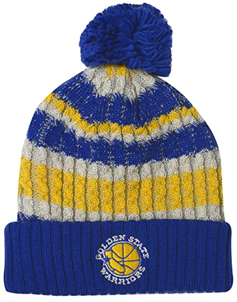 2600d05e93b Image Unavailable. Image not available for. Color  Mitchell   Ness Golden  State Warriors Irish Sweater Knit Hat