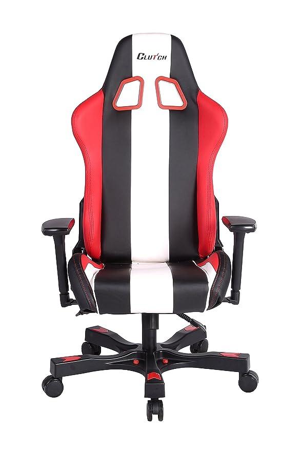 Amazon.com: Clutch Chairz Crank Series CKB11RWB Gaming Chair (Red/White/Black): Kitchen & Dining