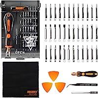 43 in 1 Precision screwdriver set repair tool kit with 36 Magnetic Precision Driver Bits, Pocket Tool Bag for iPhone 8/ Plus/PC/Macbook/Tablet