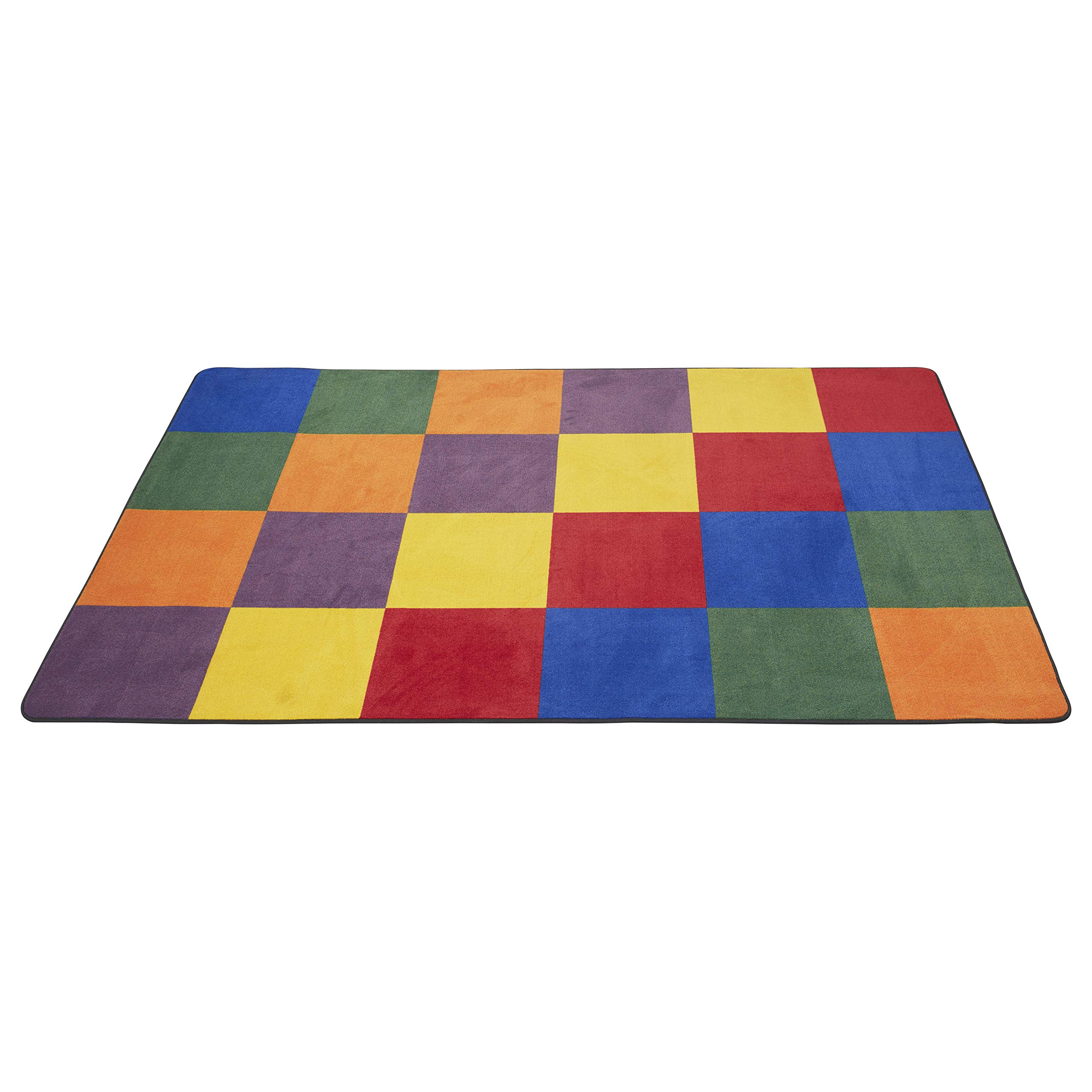 ECR4Kids Patchwork Seating Area Rug for Children, Kids' Educational Carpet for School/Classroom/Home, 6 x 9 Foot Rectangle