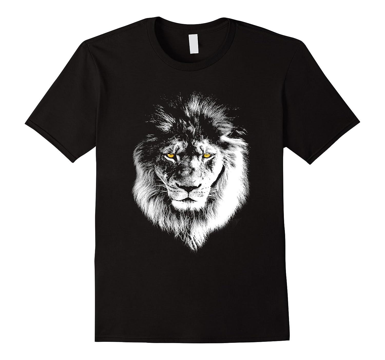 Lion Head T-shirt Fierce Stare Cool Mens Womens Kids-Art