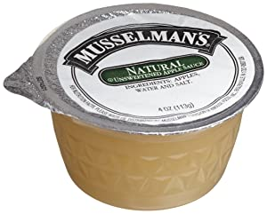 Musselman's Natural, Unsweetened Applesauce, 4-Ounce Packages (Pack of 72)