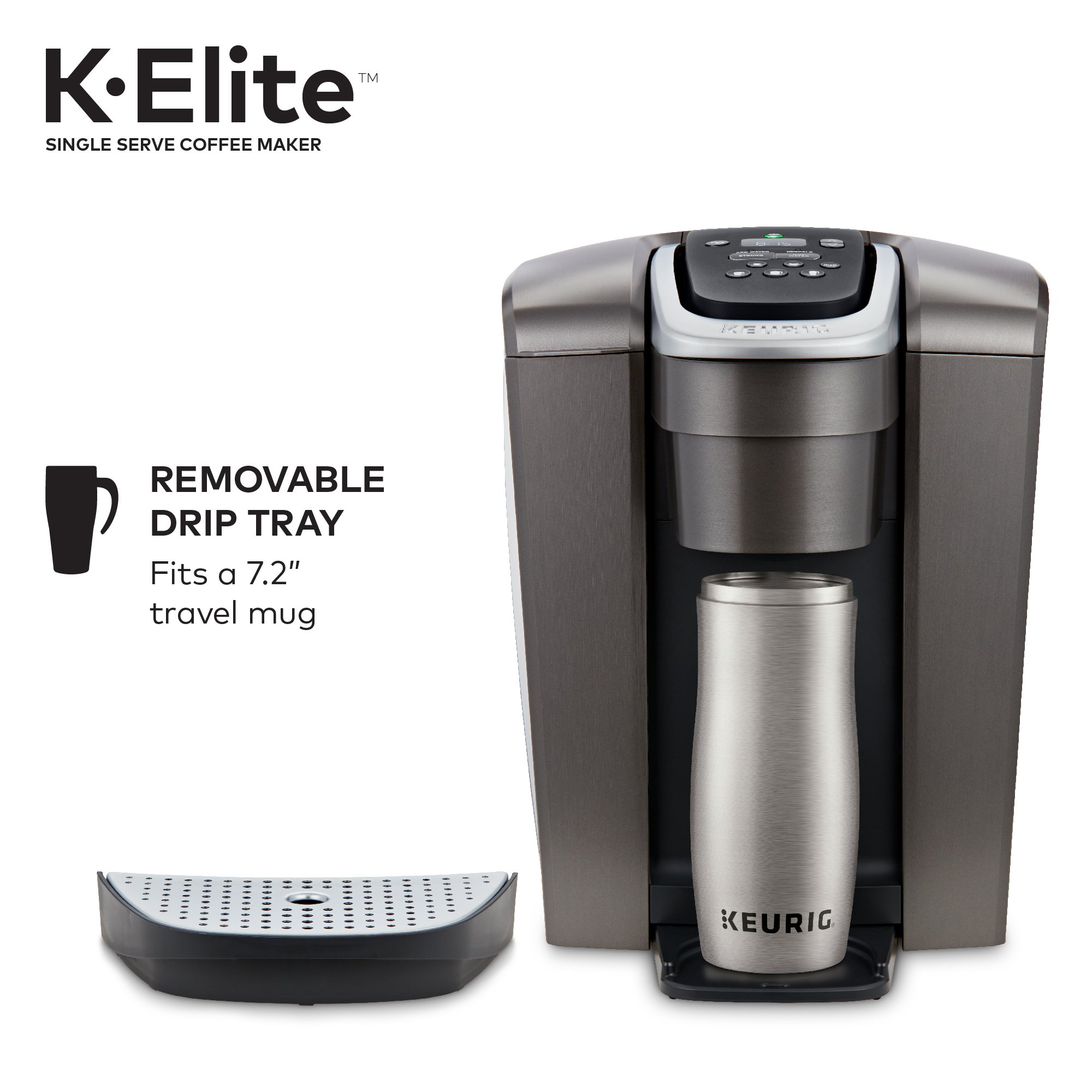 Keurig K-Elite K Single Serve K-Cup Pod Maker, with Strong Temperature Control, Iced Coffee Capability, 12oz Brew Size, Brushed Slate by Keurig (Image #7)