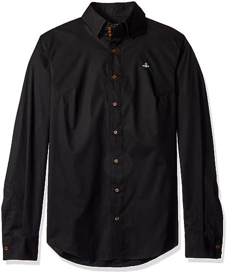 27fb9aab1ec0 Vivienne Westwood Shirt 3 Button Stretch in Black 50 (L)  Amazon.co ...